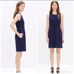 Madewell Verse navy sleeveless fit & flare dress